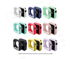 CAPA CASE PROTETOR SILICONE APPLE WATCH 40MM CORES