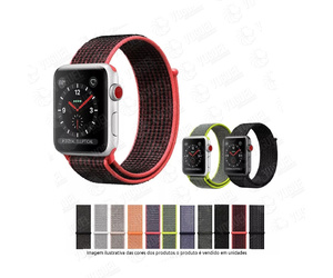 PULSEIRA APPLE WATCH TECIDO 42-44MM CORES