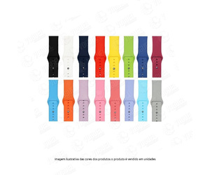 PULSEIRA SILICONE APPLE WATCH 40-38MM CORES