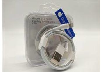 CABO LIGHTNING USB IPHONE 5/6/7/8/X BRANCO AUTHENTIC